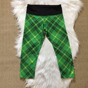 Lululemon Green Tartan Plaid Capris